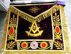 HAND EMBROIDERED MASONIC PAST MASTER APRON (MA 178 S)