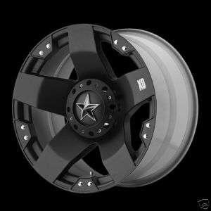 20 KMC XD ROCKSTAR MATTE BLACK WHEELS TRUCK/ SUV 20x10