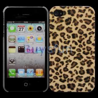 Brown Leopard Pattern Hard Cover Case Skin for Apple iPhone 4 4G 4S