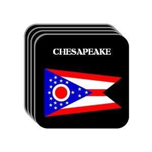 US State Flag   CHESAPEAKE, Ohio (OH) Set of 4 Mini Mousepad Coasters