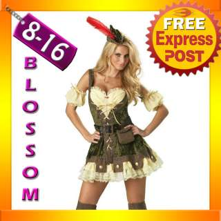 B63 Thief Robin Hood Fancy Dress Costume Outfit Hat