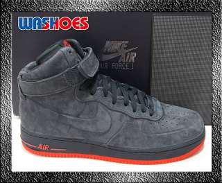 Air Force 1 High VT PRM Anthracite Max Orange Grey US 8.5 12 dunk 90