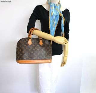 Authentic LOUIS VUITTON Monogram ALMA Classic Hand Bag Purse