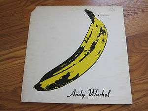 UNDERGROUND First lp Andy Warhol cover Peelable Banana stereo lp