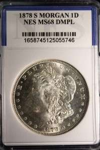 AUTHENTIC 1878 S MORGAN SILVER DOLLAR HIGH MS COIN #746