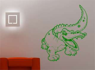 CROCODILE KIDS CHILDRENS wall art sticker vinyl BEDROOM NURSERY ANIMAL