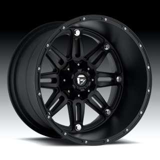 20 x 14 Fuel Hostage Black D531 5 6 8 Lug Wheels Rims