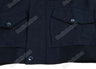 Korea Fashion Style Mens Slim Designed Hooded Long Trench Coat Jacket