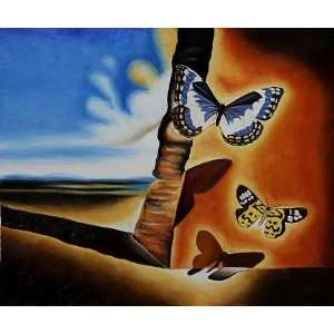 Oil Paintings Landscape with Butterflies II Oil Painting Canvas Art