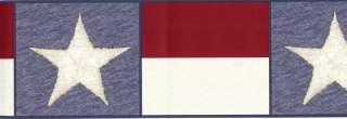 Stars Stripes Red White Blue Americana Wallpaper Border