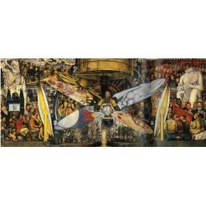 Hand Made Oil Reproduction   Diego Rivera   24 x 10 inches