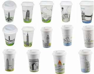 Am Not A Paper Cup Eco Mug   Eiffel, London, Pisa etc |