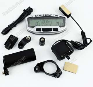 LCD Bicycle Bike cycling Computer Odometer Speedometer for Mountain