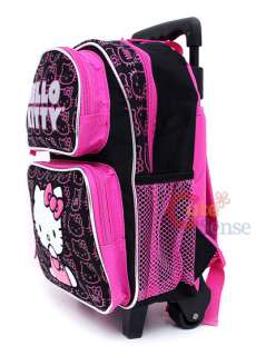 HELLO KITTY School Roller Backpack Rolling Bag Black S