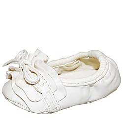 Baby Girl White Glam Fashion Crib Shoes