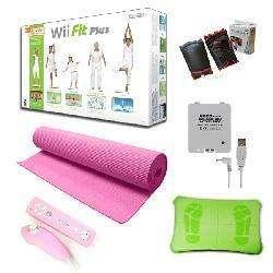 Nintendo Wii Fit Plus Super Bundle   Pink