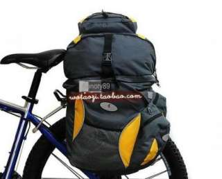 65L Cycling Bicycle Bag Bike rear seat bag pannier + Backpack NEW