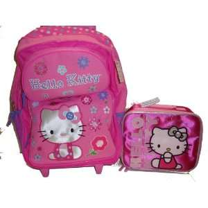 Sanrio Hello Kitty Large Rolling Backpack / Luggage with