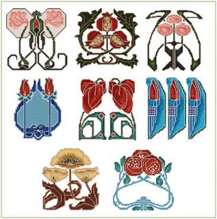 Art Nouveau Borders Machine Embroidery Designs Set 4x4