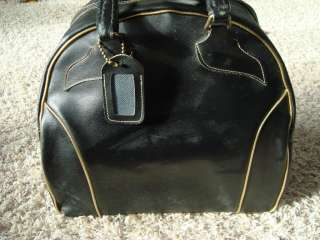 Vintage One Ball Bowling Bag Black with Gold Trim Clark Very COOL