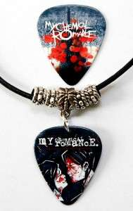 My Chemical Romance Guitar Pick Leather Necklace + Pick