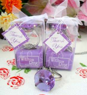 Diamond Ring Keychain Wedding Bridal Shower Favors 40pc