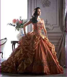 New Quinceanera Wedding Party evening Dress Prom Ball Gown Color