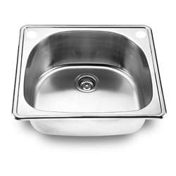bowl Top mount Stainless Steel Kitchen Sink