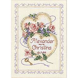 United Hearts Wedding Counted Cross Stitch Kit  Overstock