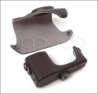 C011 Camera Leather Case Bag RICOH GRD III GRD3 Brown