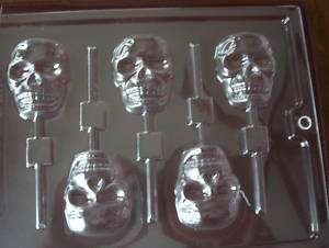 SKULL SCARY CHOCOLATE LOLLIPOP CANDY MOLD *