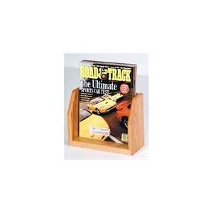 Wooden Mallet Countertop Magazine Display with 1 Pocket   Light Oak