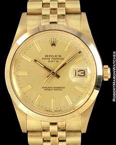 ROLEX VINTAGE DATE 14K 15007 CHEVROLET PONTIAC 1986