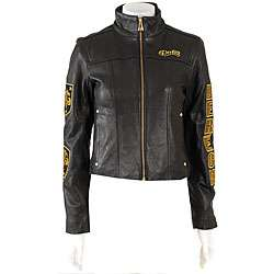 Dereon Womens Leather Motorcycle Jacket