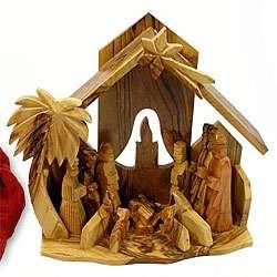 Hand carved Olive Wood Nativity Scene (Bethlehem)