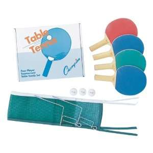 Four Player Table Tennis Set