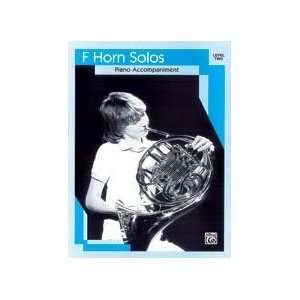 Alfred 00 EL03133 French Horn Solos   Music Book Musical