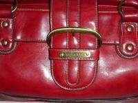 Leather purse handbag doctors style bag satchel brick red fabulous