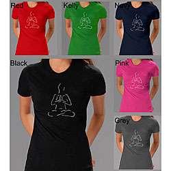 Los Angeles Pop Art Womens Yoga Poses T shirt