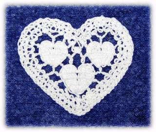 ONLY $1  LOVELY HEART VENICE/VENISE LACE TRIM APPLIQUES