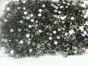 144 GENUINE SWAROVSKI BLACK DIAMOND 16ss 4 mm FLATBACK RHINESTONES NEW