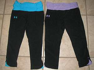NWT WOMEN UNDER ARMOUR HEAT GEAR COMPRESSION SHATTER II CAPRIS SELECT