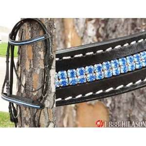 English Bridle With Sparkling Crystals Rhinestones Sports & Outdoors