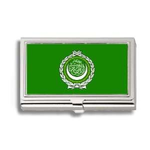 League of Arab States Flag Business Card Holder Metal Case