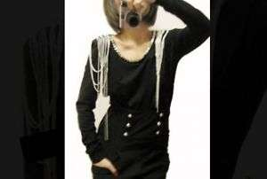 Women Metal chain top Shirt Balmain shoulder embellish