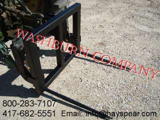 3pt super heavy duty quick coupler 2 spear hay mover
