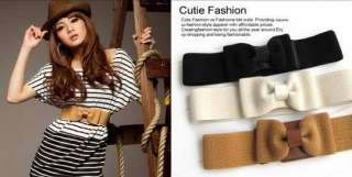 Color for Women Lady Bowknot Waist Belt BE21