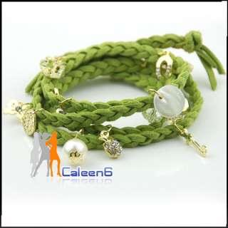 Shell Heart Fashion Silver Hemp Rope Bracelet HOT Free Size