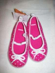 NWT GYMBOREE Cape Cod Cutie Pink with White Dot Canvas Shoes Sz 8