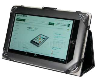 NOOK COLOR BLACK 3 VIEW LEATHER STAND CASE COVER